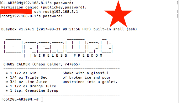 SSH connection from wan to the router throught a main router