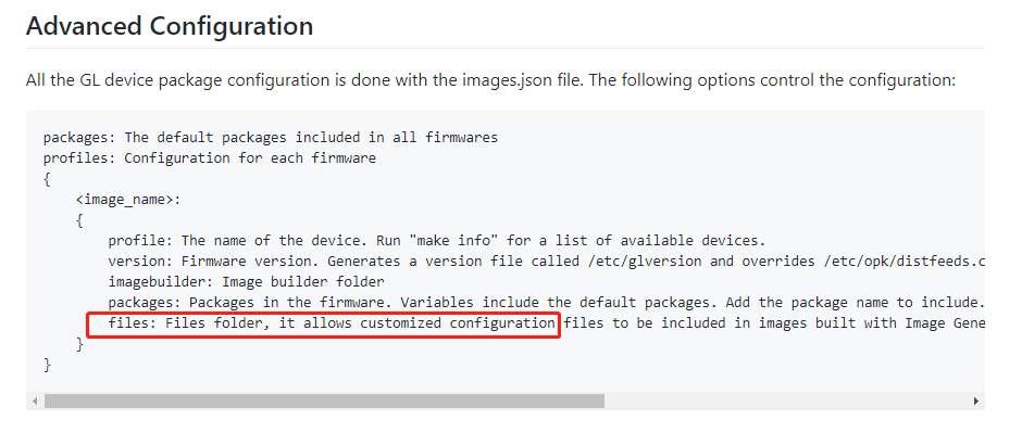 Image builder not placing custom config files on compiled image - GL